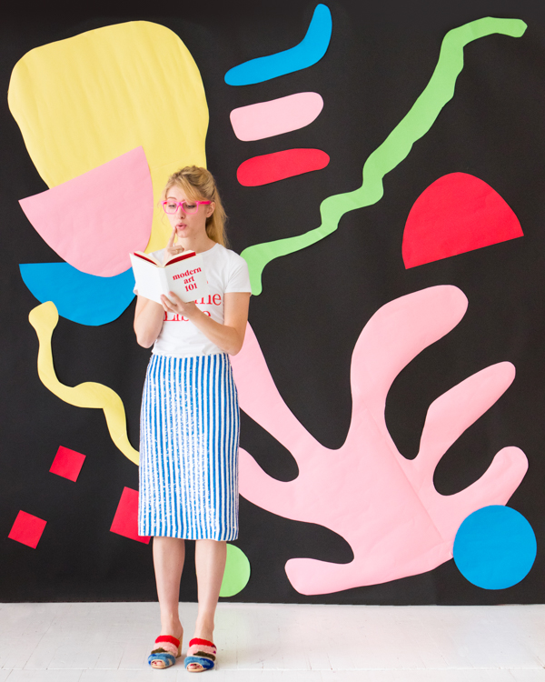 Giant Matisse-Inspired Art Backdrop