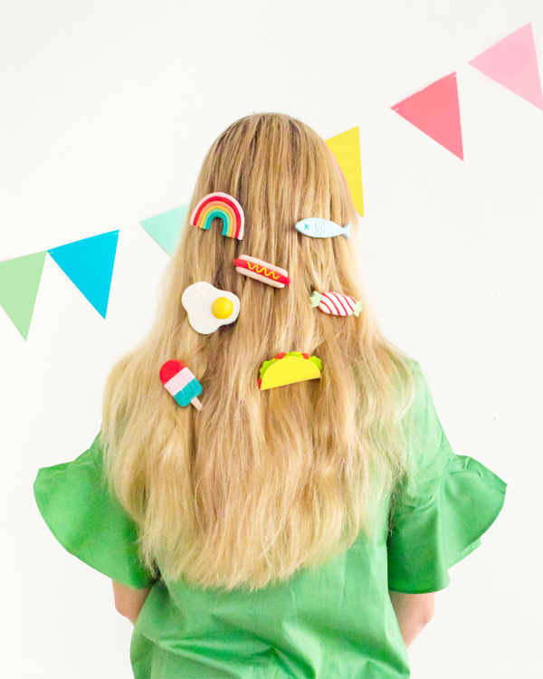DIY Clay Barrettes