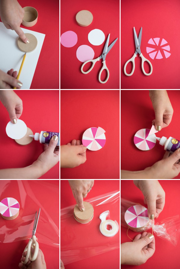 Candy Swirl Favor Boxes DIY