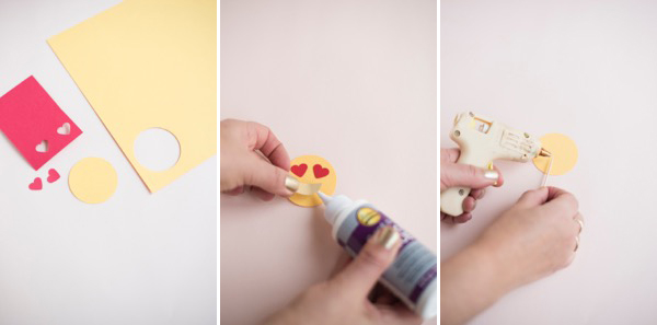 Valentine's Emoji Cupcake Toppers   Oh Happy Day!