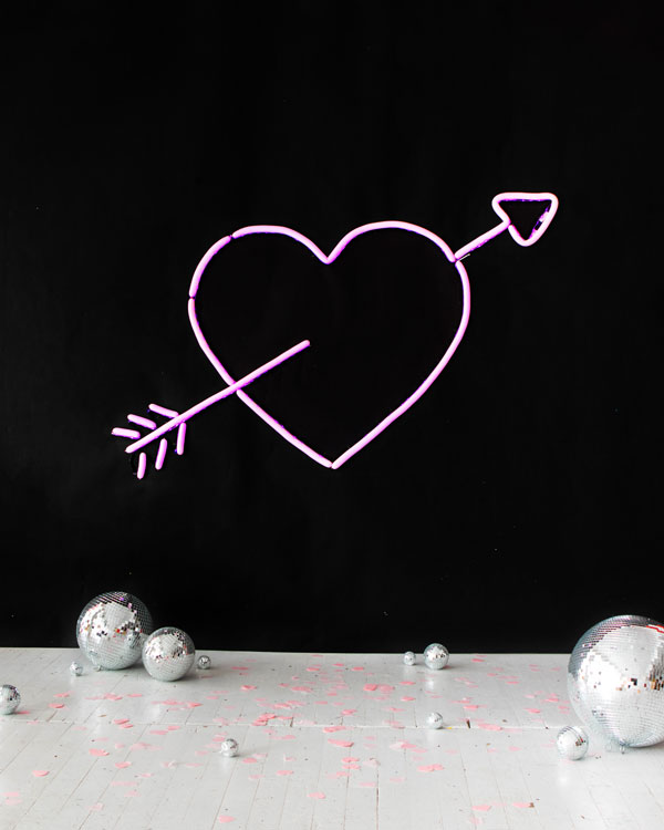 Neon Heart Balloon Wall | Oh Happy Day!