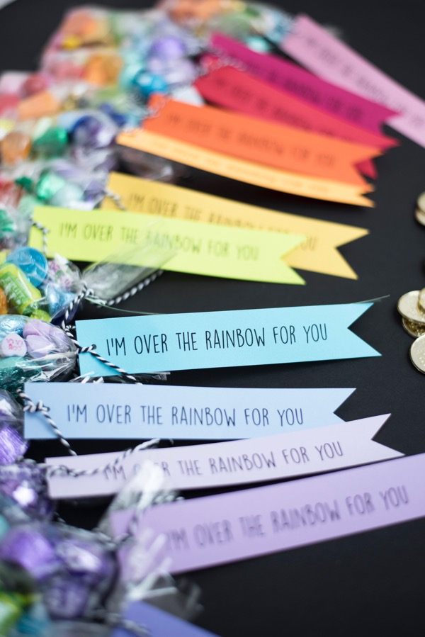 Rainbow Candy Favor Bags | Oh Happy Day!