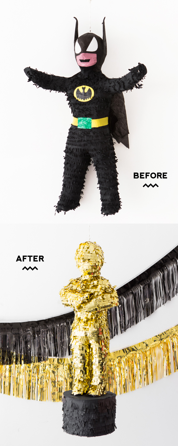 Oscars Watch Party: Pinata Makeover | Oh Happy Day!