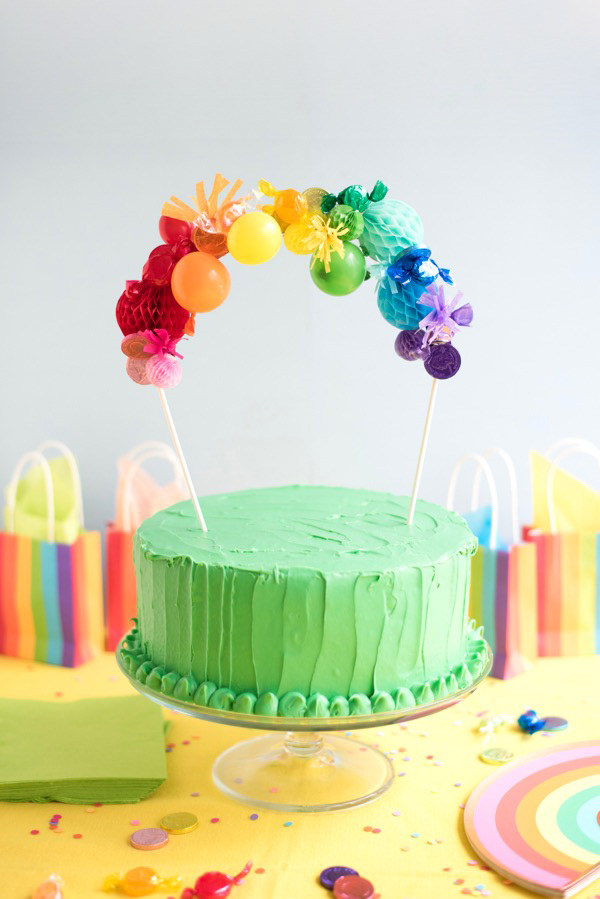 Rainbow Cake Topper DIY