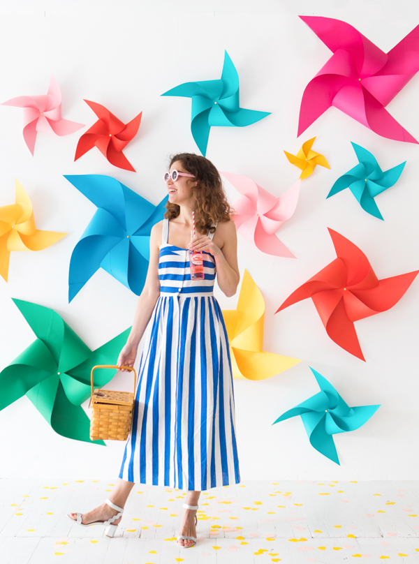 Spinning Pinwheel Backdrop | Oh Happy Day!