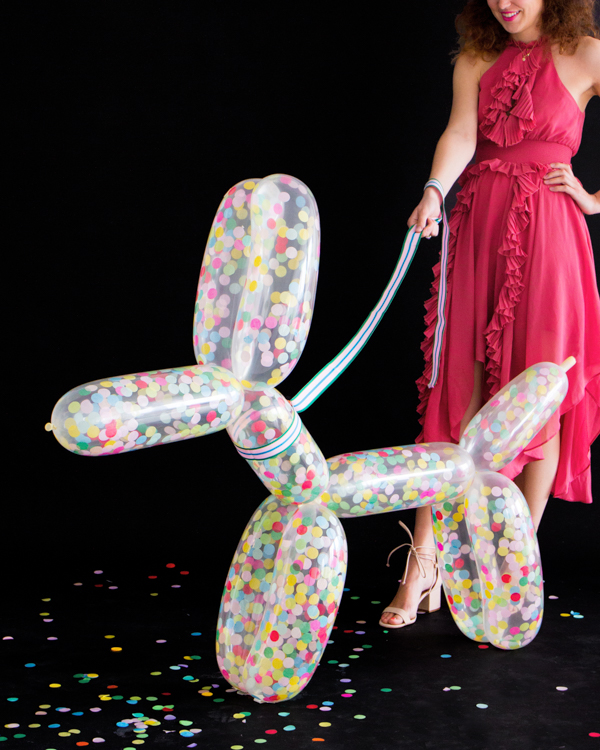 DIY Giant Confetti Balloon Dog