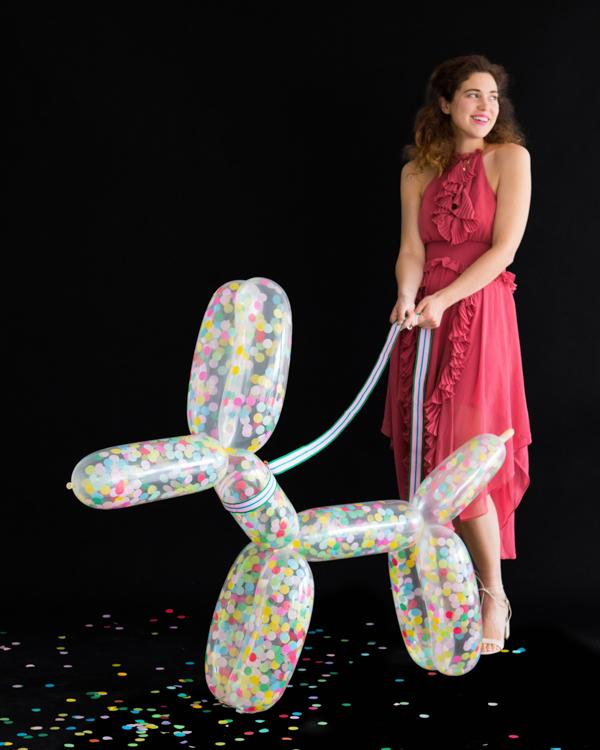 DIY Giant Confetti Balloon Dog | Oh Happy Day!