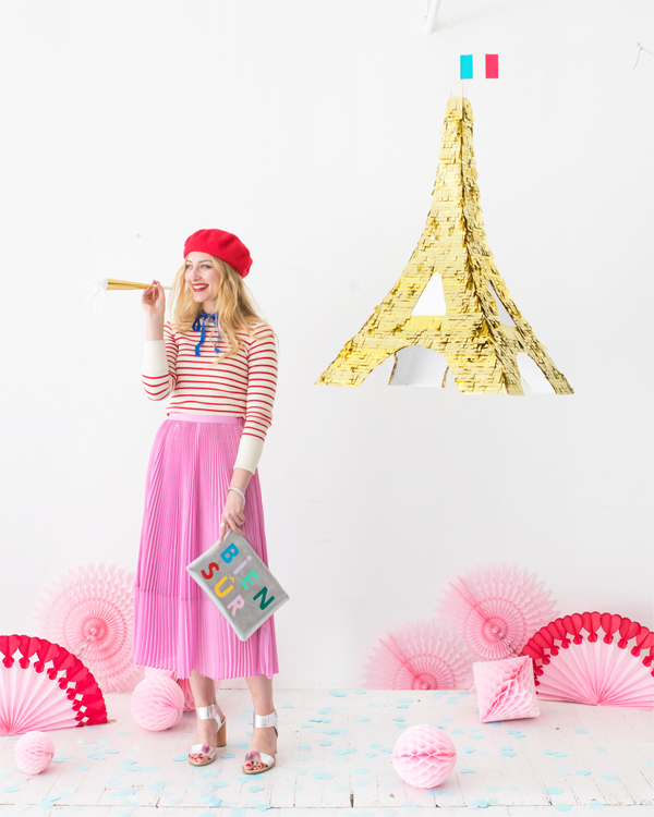 DIY Eiffel Tower Pinata