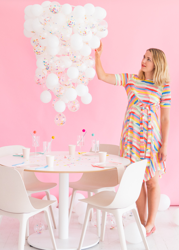 DIY Confetti Balloon Chandelier