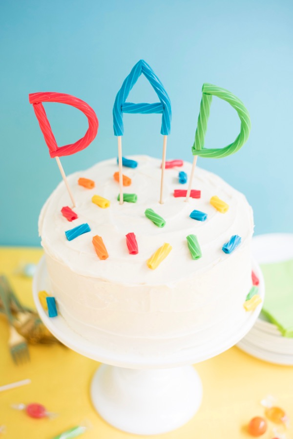 Father's Day Twizzlers Cake Topper | Oh Happy Day!