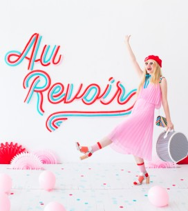 Au Revoir Balloon Backdrop | Oh Happy Day!