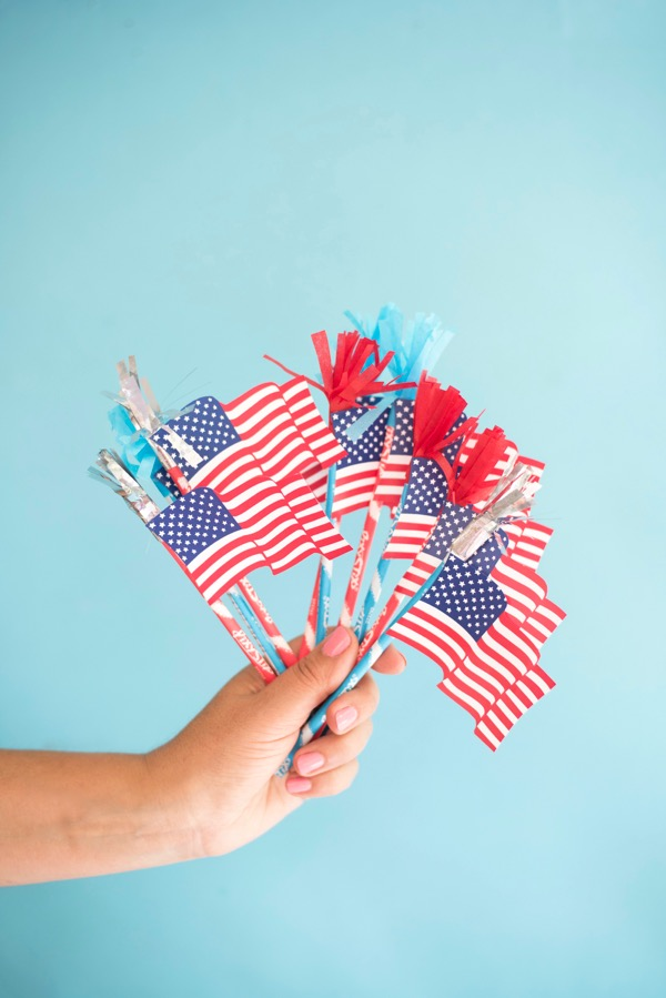 American Flag Pixie Sticks Treats DIY