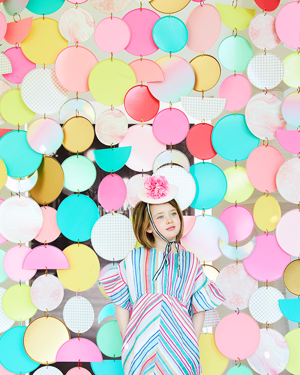 Paper Plate Curtain Backdrop