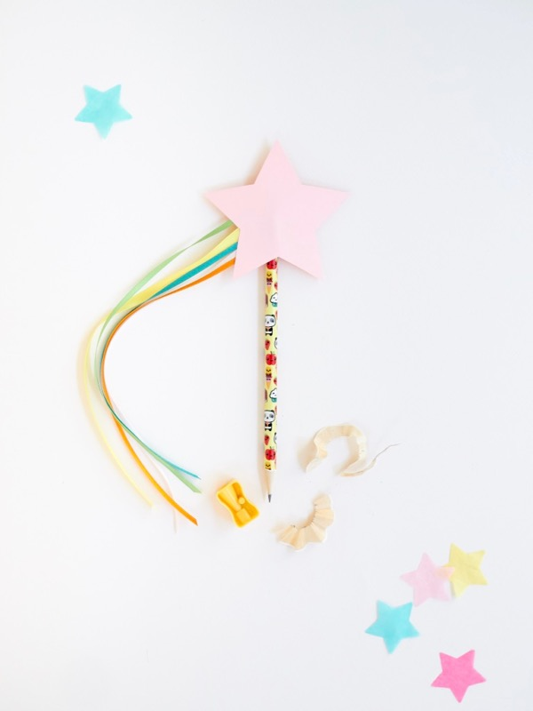 Shooting Star Pencil Toppers DIY