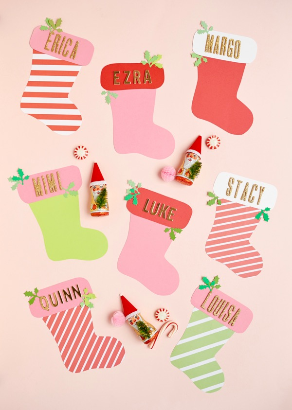 Holiday Stocking Place Cards DIY
