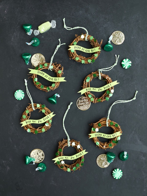 Mini St. Patrick's Day Wreaths DIY