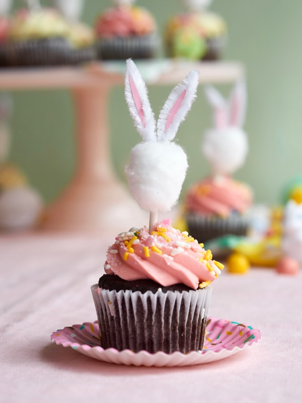 Minimalist Bunny Cupcake Toppers DIY   Oh Happy Day