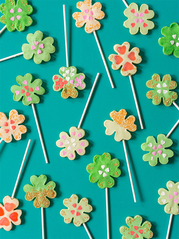 Chocolate Clover Lollipops | Oh Happy Day
