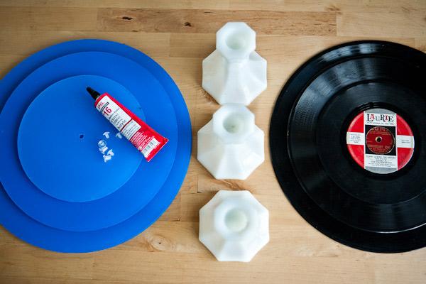 DIY Vintage Record Cake Plates
