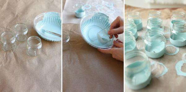 Paint Dipped Baby Food Jars Diy