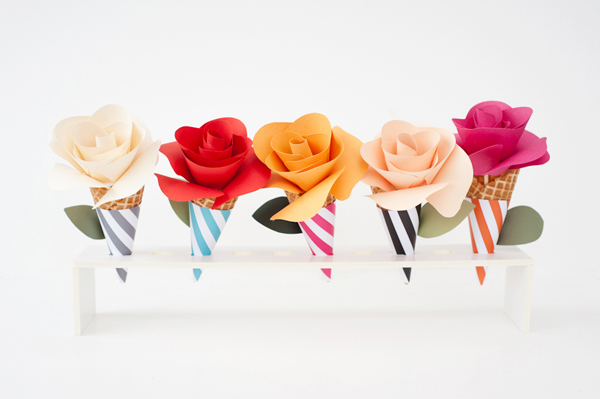 Paper flower cone for decor or goodies!