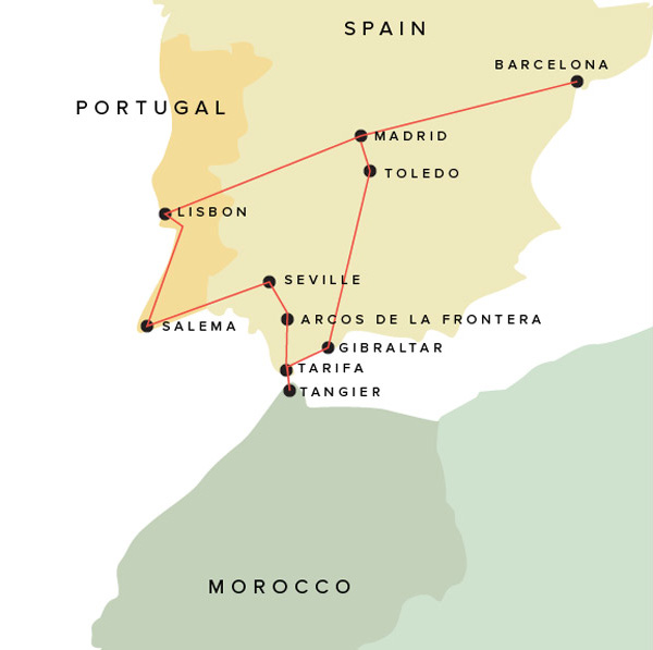 Detailed Map Of Spain Portugal And Morocco.Spain Portugal Morocco Part 1