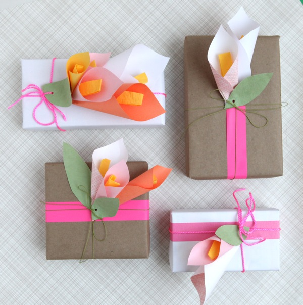 How to make paper Calla Lily flower, FREE template | 604x600