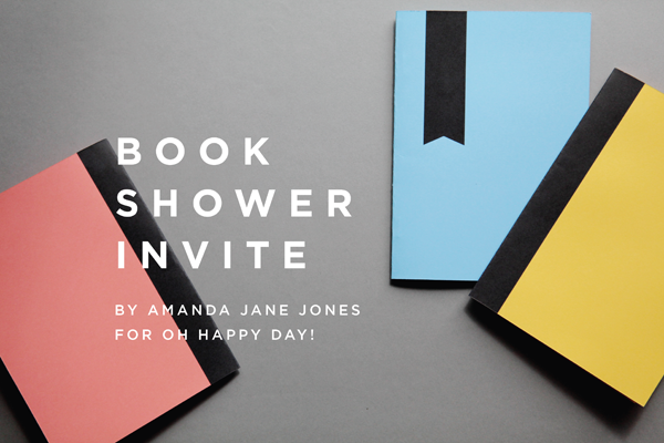 free printable book shower invite
