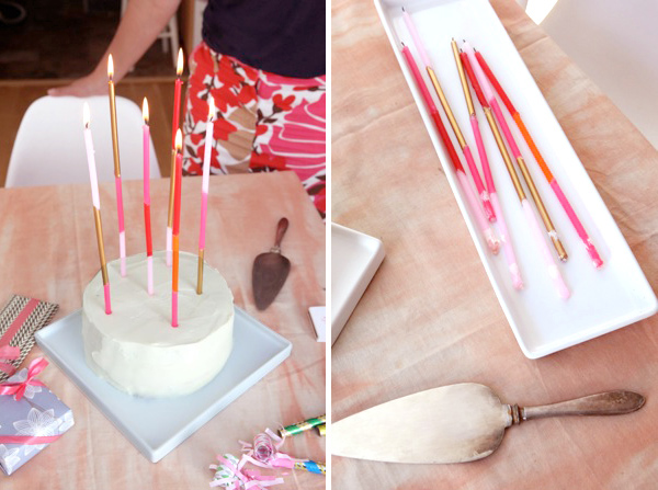 Super Long Taper Candles DIY   Oh Happy Day!