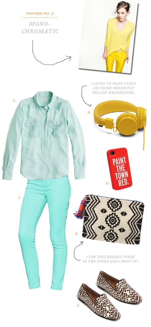 Uniform No. 3: Monochromatic | Oh Happy Day!