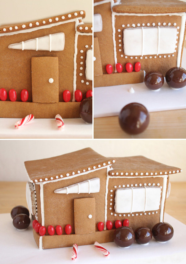 modern gingerbread house template  Modern Gingerbread House