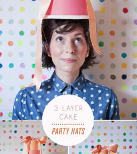 3 Layer Cake Party Hats | Oh Happy Day