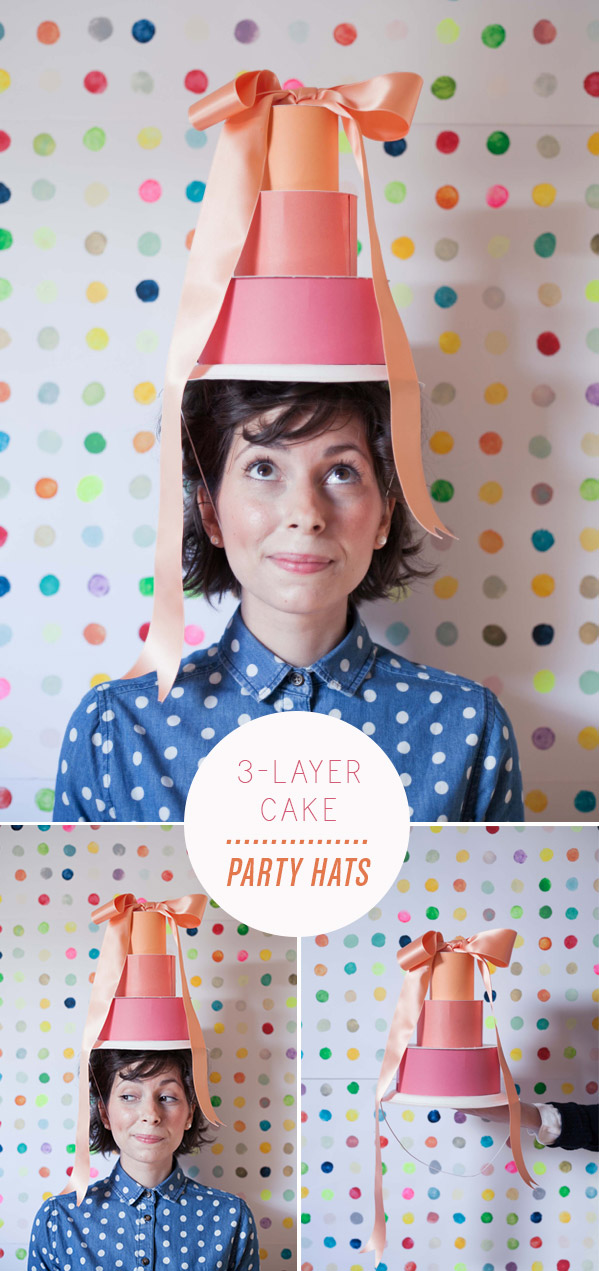 Outstanding 3 Layer Cake Party Hat Funny Birthday Cards Online Inifofree Goldxyz