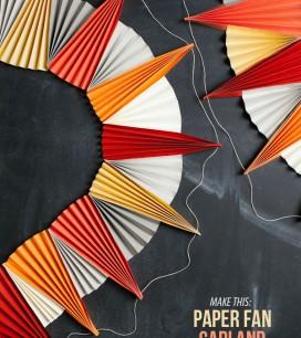 Paper Fan Garland DIY | Oh Happy Day!