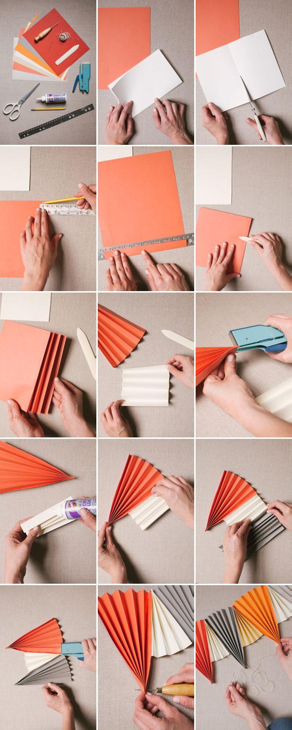 Paper Fan Garland Diy