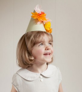 Paper Flower Party Hats DIY   Oh Happy Day!