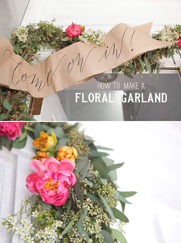 Floral Garland Welcome Banner Diy