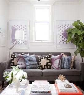 Living Room 500 square foot apartment