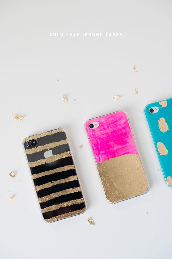 Gold Leaf Iphone Cases Diy