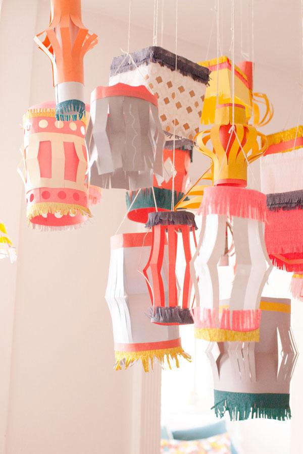 homemade paper lantern diy. Black Bedroom Furniture Sets. Home Design Ideas