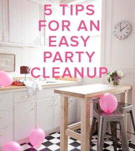 5 Tips for an Easy Party Cleanup