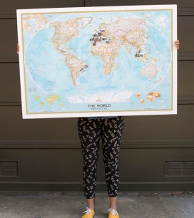 Travel Memory Map DIY   Oh Happy Day!
