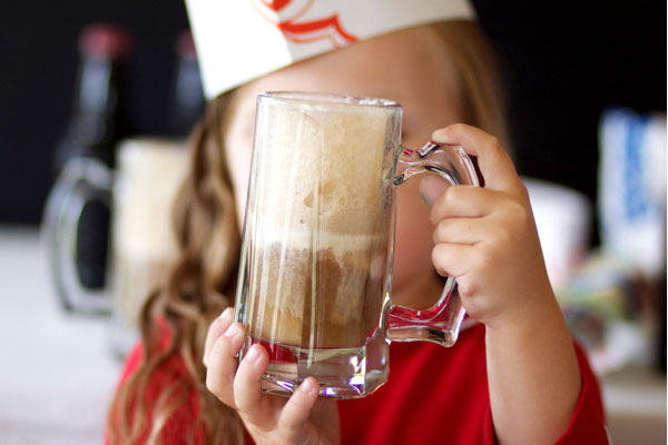 Root Beer Float Party + Soda Fountain Hats DIY | Oh Happy Day!
