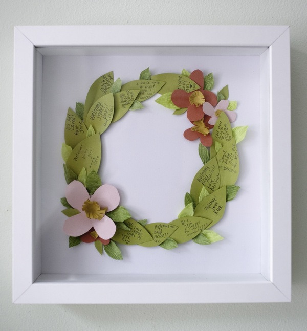 Floral Wreath Guestbook/Art DIY | Oh Happy Day!