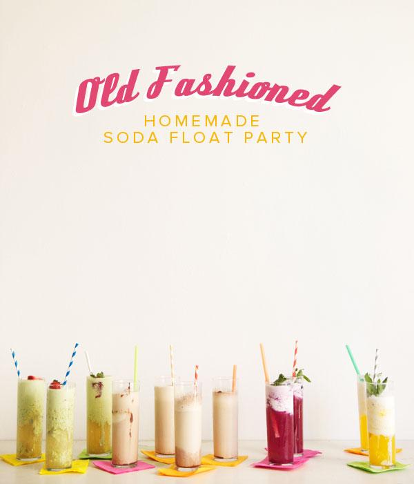 Homemade Soda Float Party DIY | Oh Happy Day!