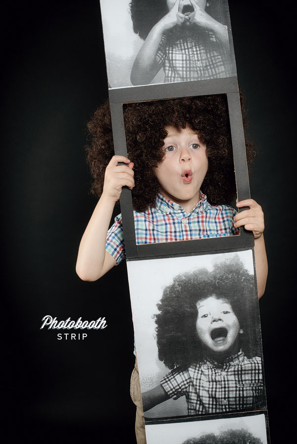 Homemade Halloween Photobooth Strip Costume