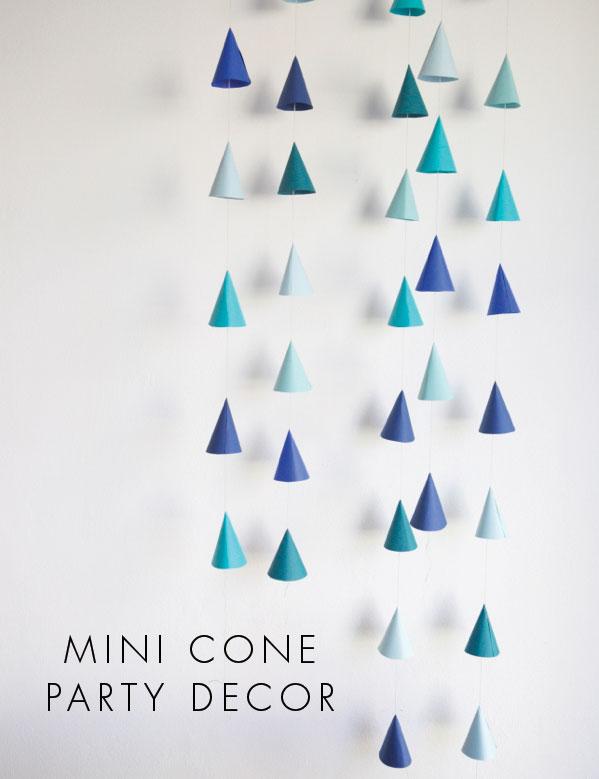Mini Cone Party Decor | Oh Happy Day
