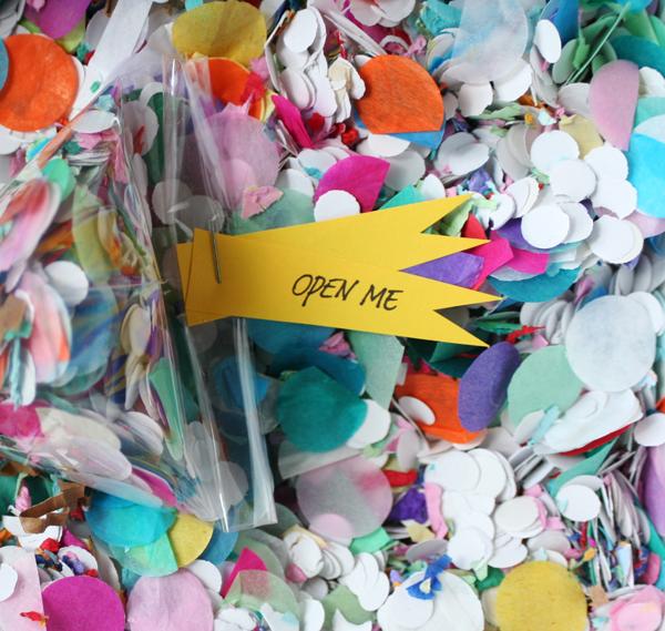 Confetti Triangle Invitations   Oh Happy Day!