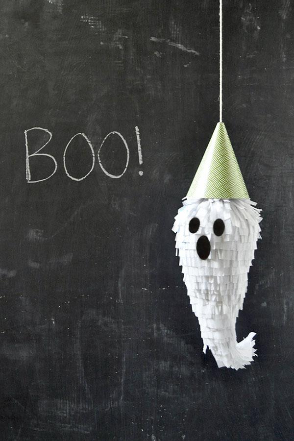 Mini Ghost Piñatas DIY | Oh Happy Day!