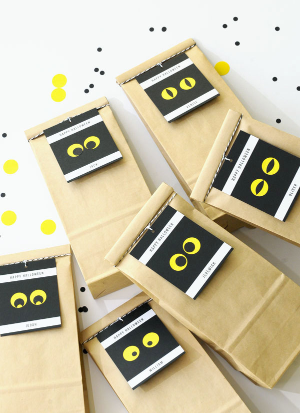 Spooky Eyes Gift Tag DIY | Oh Happy Day!